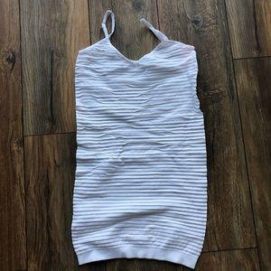 {HP}BNIB- White Ribbed Dress
